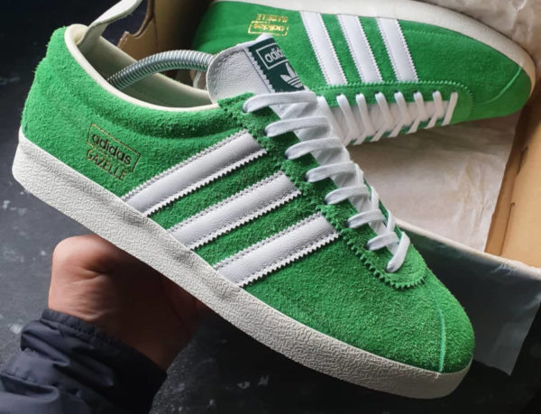 Adidas Gazelle Vintage Suede Semi Flash Green (couv)