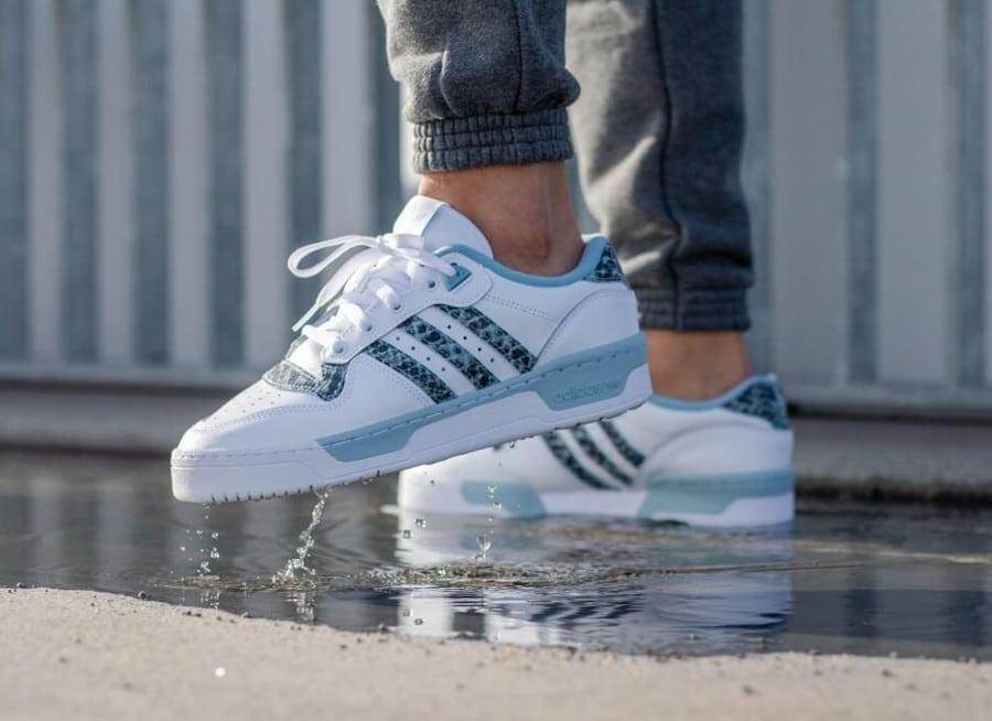 Adidas Rivalry Low 'Snakeskin' White Ash Grey EG7636