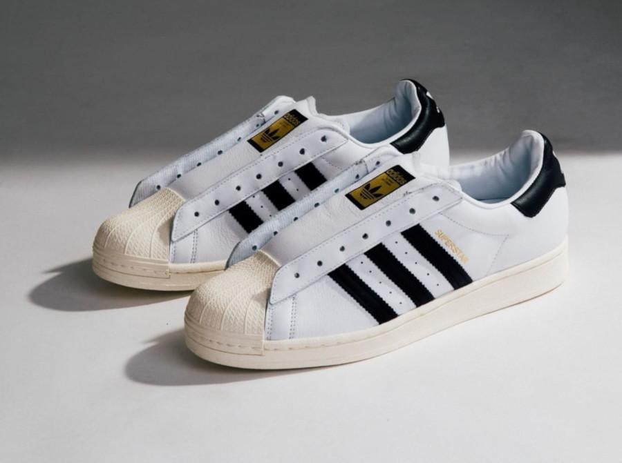 Adidas Superstar Laceless 'No Hassle' Cloud White Core Black (7)