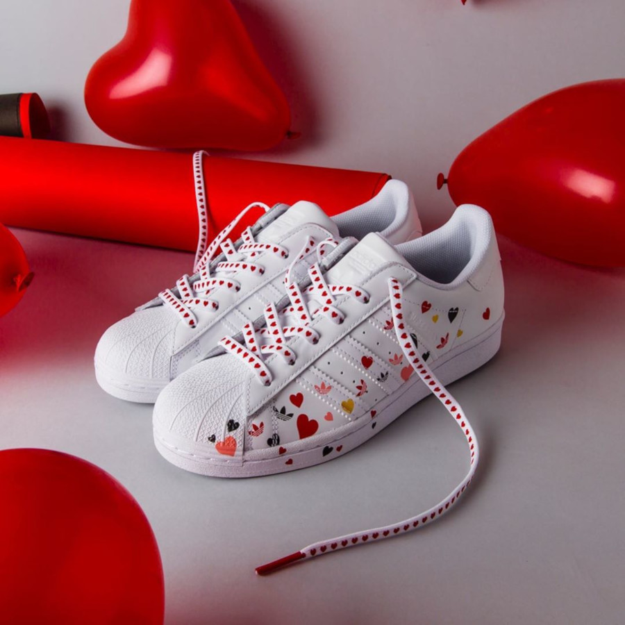 Adidas Superstar W Cloud White Saint Valentin 2020 FV3289 (3)