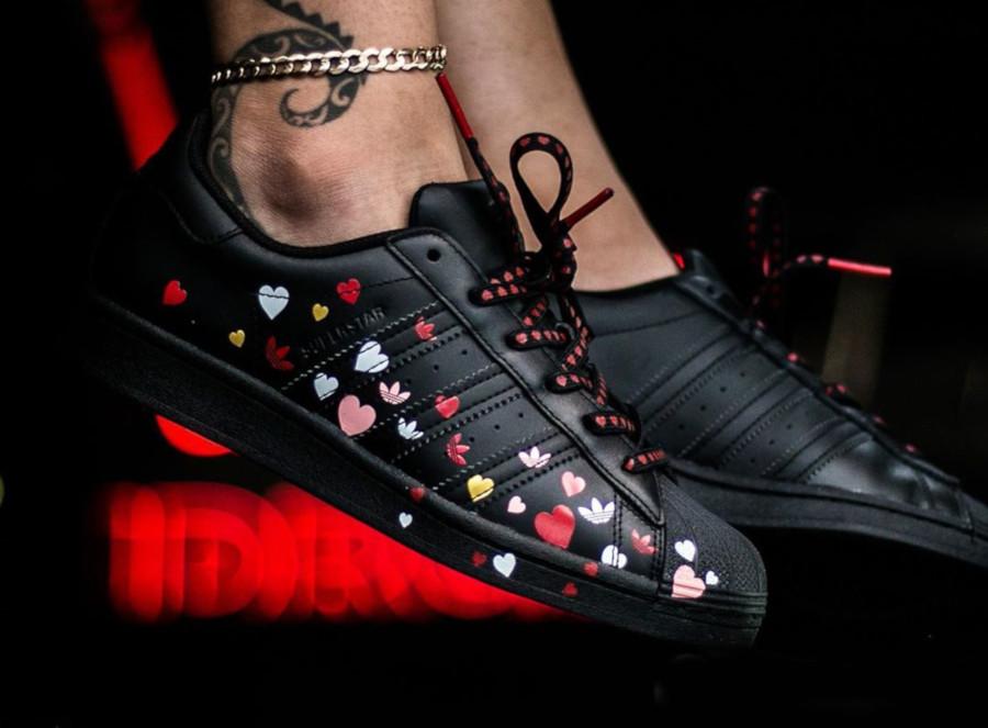 Adidas Superstar W Core Black Saint Valentin 2020 FV3288 (3)