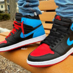Air Jordan 1 High OG Wmns 'UNC to Chicago' (Powder Blue Gym Red)
