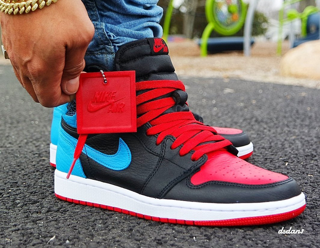 Air Jordan 1 High OG Wmns 'UNC to Chicago' (Powder Blue Gym Red) (2)