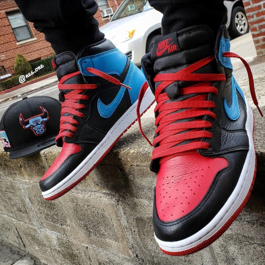 Air Jordan 1 High OG Wmns 'UNC to Chicago' (Powder Blue Gym Red) (4)