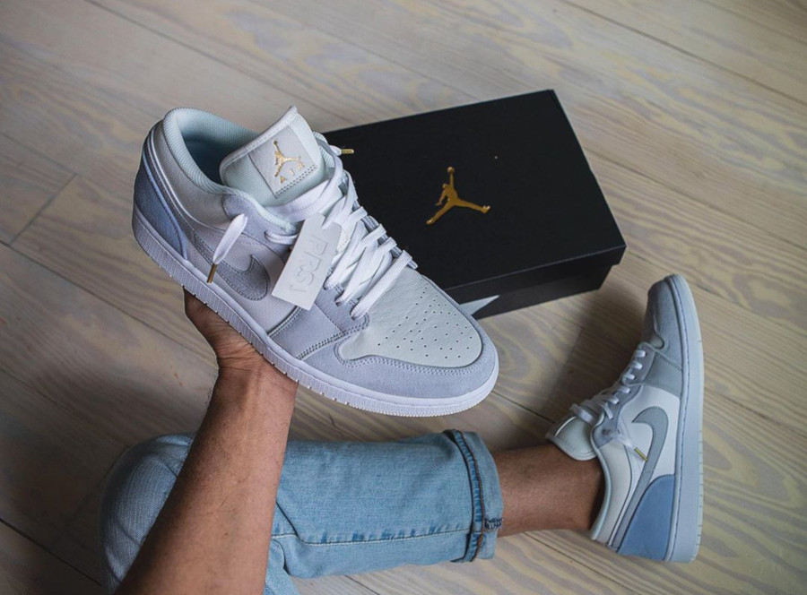 Que Vaut La Air Jordan 1 Low City Paris Prs Sky Blue Cv3043 100