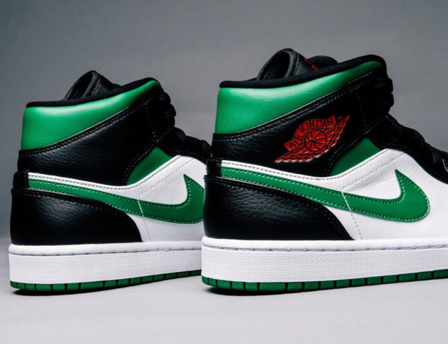 Air Jordan 1 Mid 'Green Toe' (1)