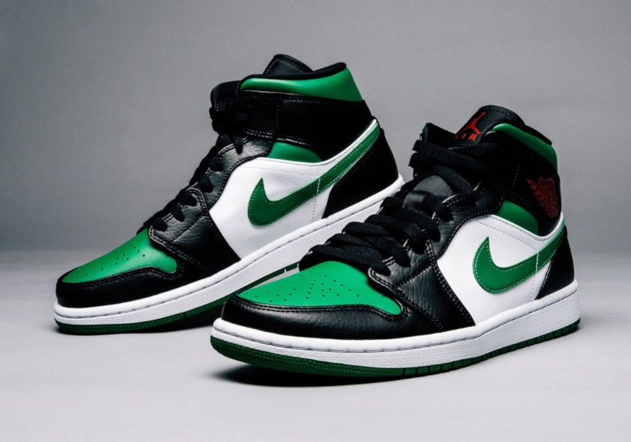 Air Jordan 1 Mid 'Green Toe' (2)