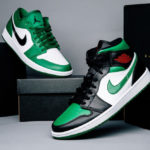 Air Jordan 1 Mid 'Green Toe'