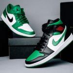 Air Jordan 1 Mid 'Green Toe'