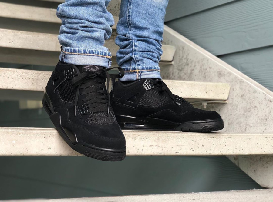 Air Jordan IV Retro Black Cat 2020 on feet (1-3)
