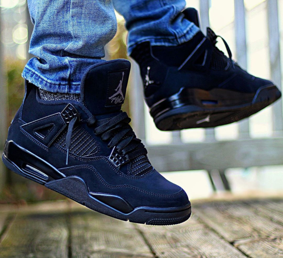 Air Jordan IV Retro Black Cat 2020 on feet (5)