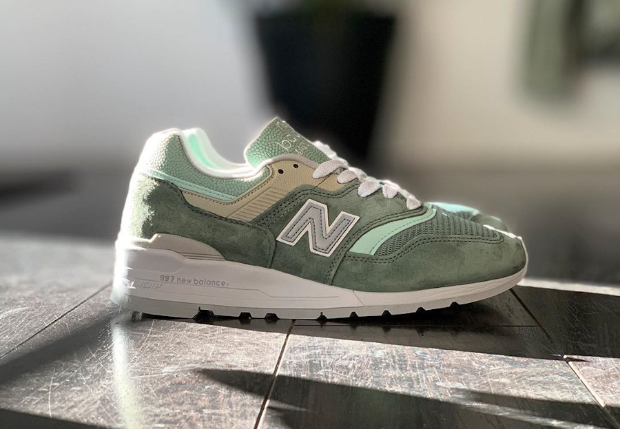 New Balance 997 'Less is More' Mint Green White (made in USA) (1)