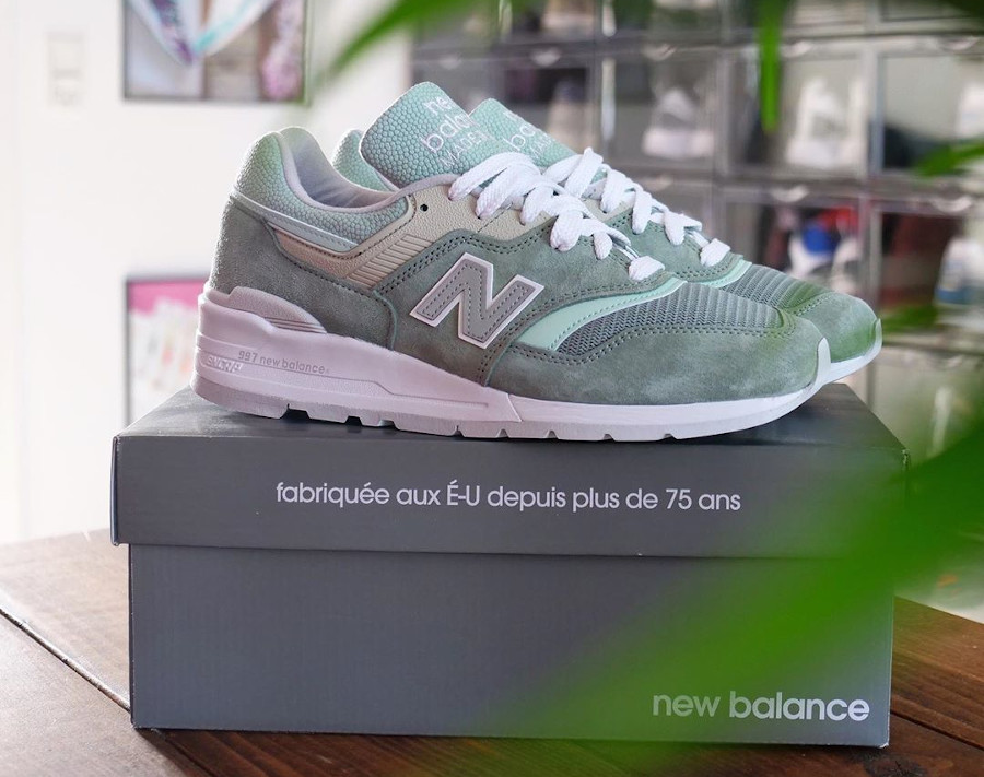 New Balance 997 'Less is More' Mint Green White (made in USA) (2)