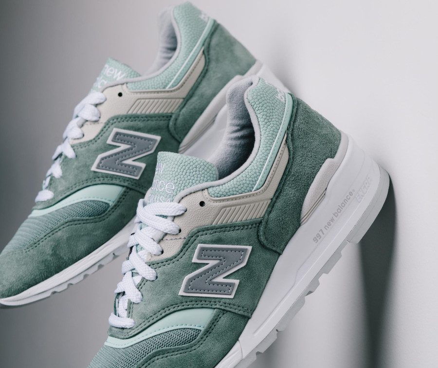 New Balance 997 'Less is More' Mint Green White (made in USA) (3)