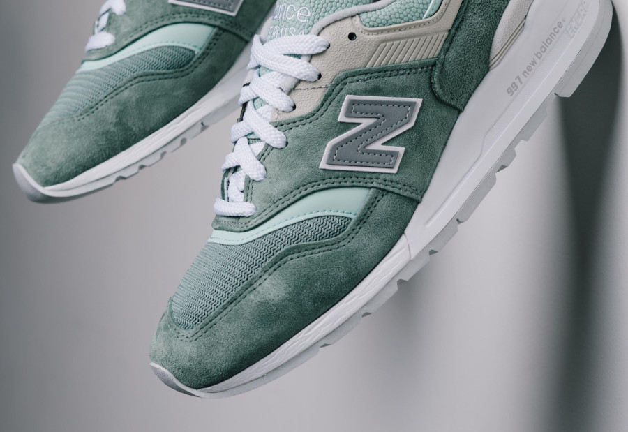 New Balance 997 'Less is More' Mint Green White (made in USA) (6)