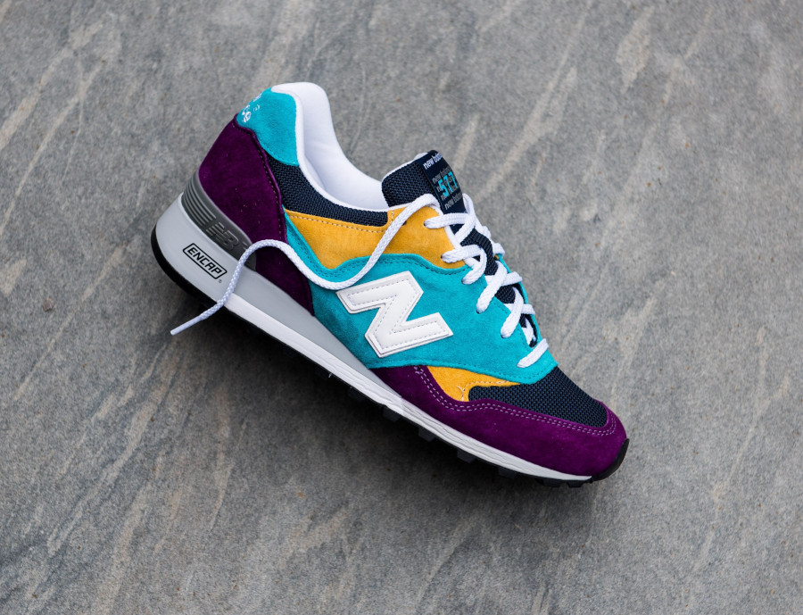 New Balance M 577 LP Purple Blue Yellow (made in England) (1)