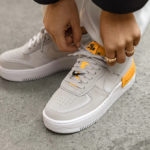 Nike Wmns AF1 Shadow 'Vast Grey Laser Orange'