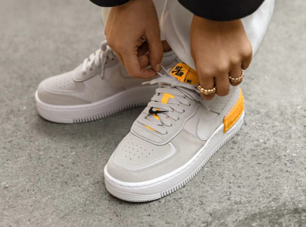 Nike Air Force 1 AF1 Shadow Vast Grey Orange CU3446-001