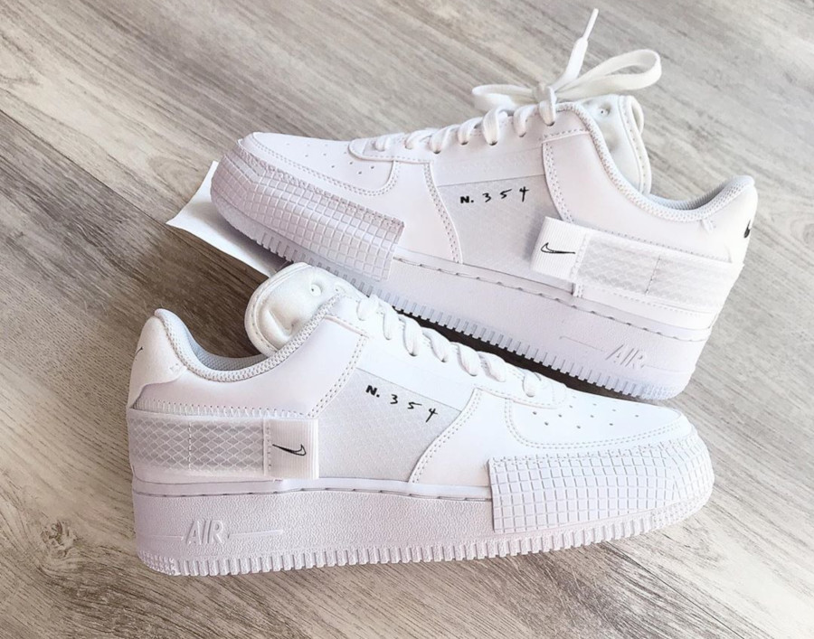 Que vaut la Nike Air Force 1 Low Type N.354 Triple White ...