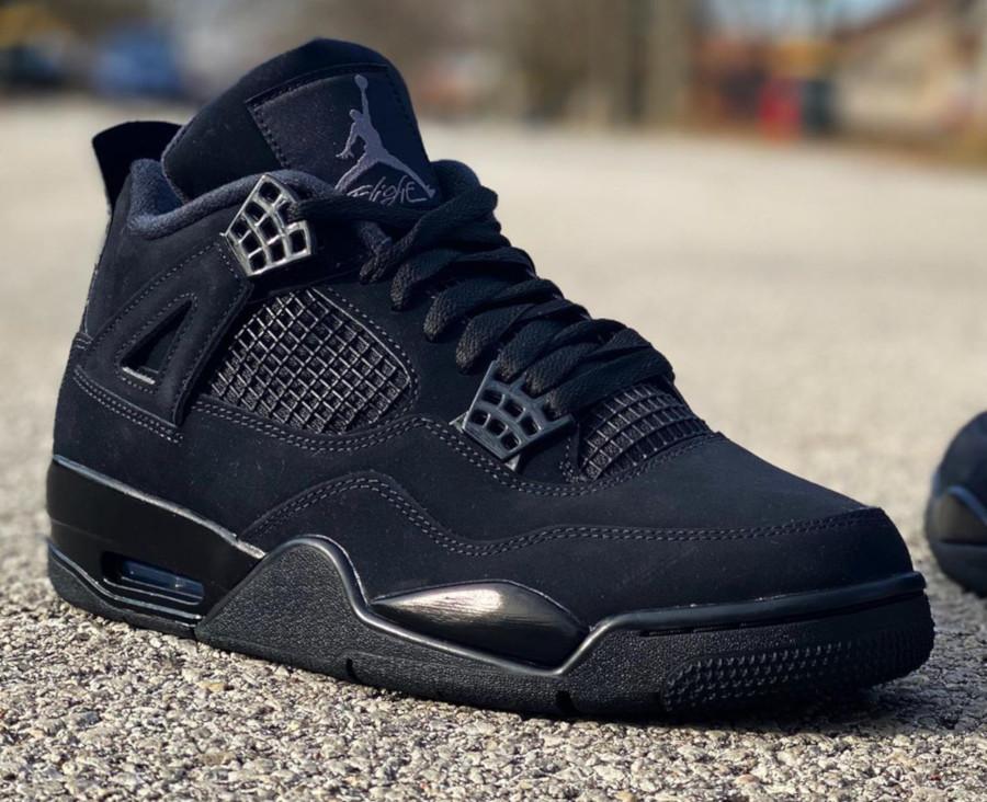 Nike Air Jordan 4 en suède noir (1)