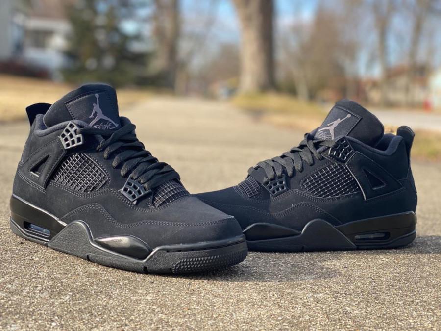 Nike Air Jordan 4 en suède noir (3)
