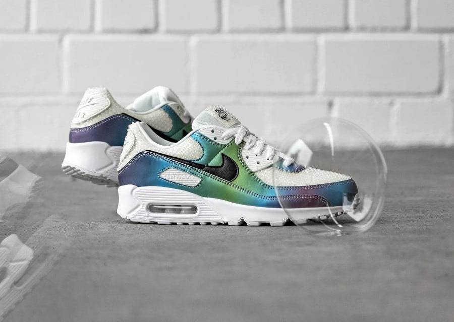 Nike Air Max 90 20 Bubble Iridescent Pack CT5066 100