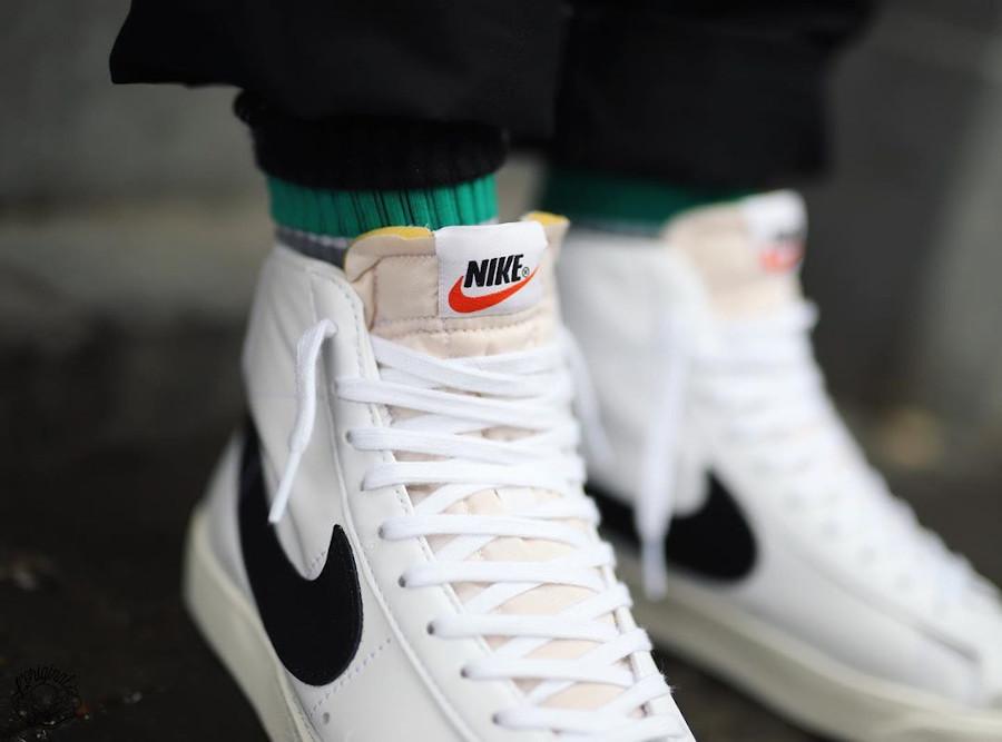 Nike Blazer Mid 77 Vintage blanche et noire (3)