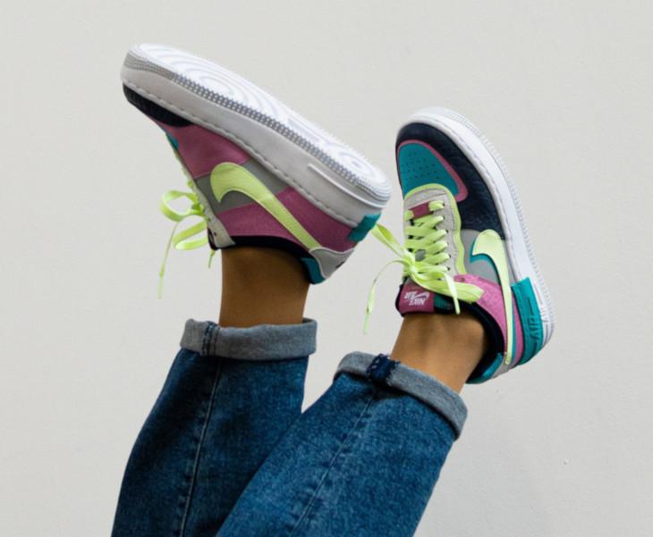 Nike Wmns AF1 Shadow 'Oracle Aqua Barely Volt Smoke Grey' (4)