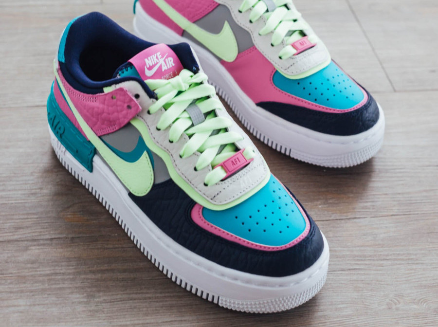 air force 1 shadow jaune fluo
