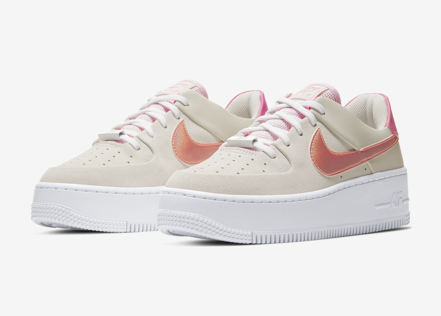 Nike Wmns Air Force 1 Sage Low 'White Digital Pink Foam' (4)