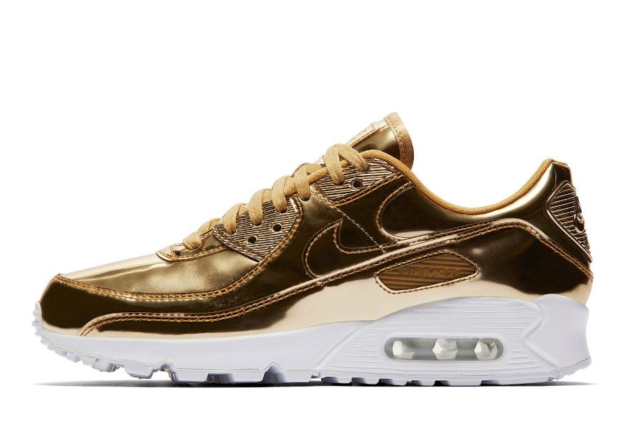 Nike Wmns Air Max 90 Metallic Gold