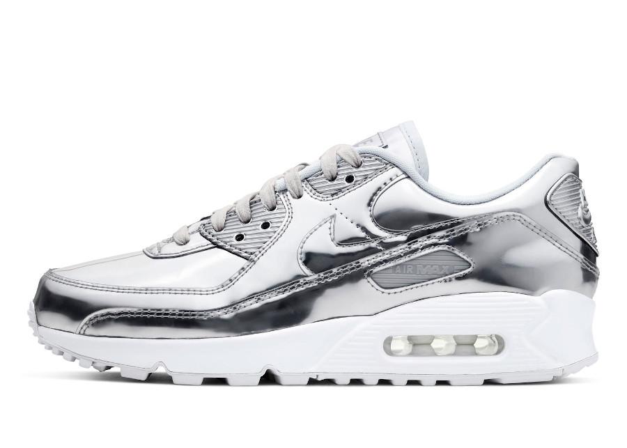 Nike Wmns Air Max 90 Metallic Silver 2020