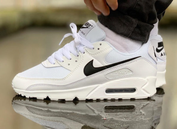 Nike Wmns Air Max 90 Recrafted 'White Black' (couv)