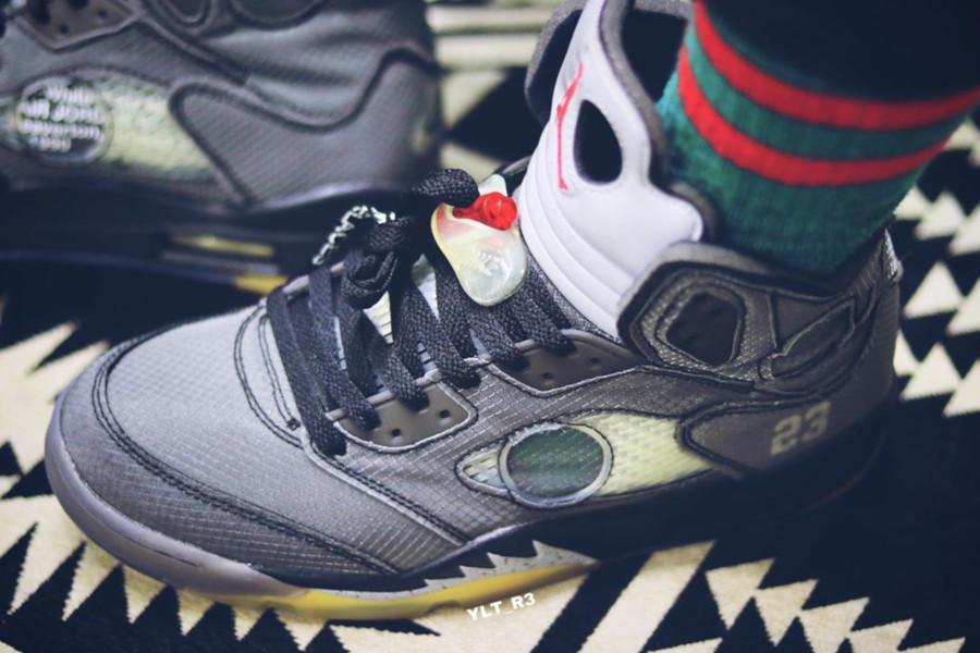 Off White x Air Jordan 5 'Black Metallic' (4)