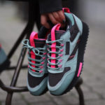 Reebok W Classic Leather Ripple Trail 'Green Slate Solar Pink'