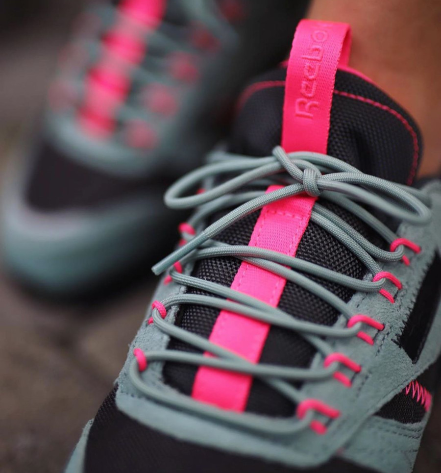 Reebok W Classic Leather Ripple Trail 'Green Slate Solar Pink' (1)