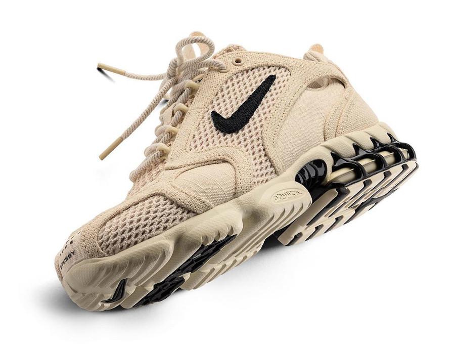 Stüssy x Nike Air Zoom Spiridon Cage 2 Fossil