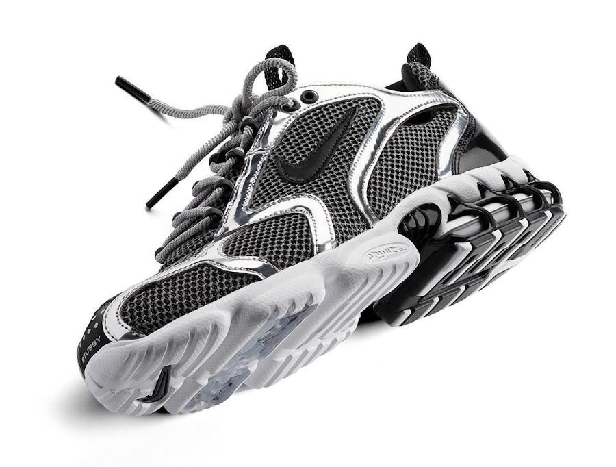 Stüssy x Nike Air Zoom Spiridon Cage 2 Pure Platinum