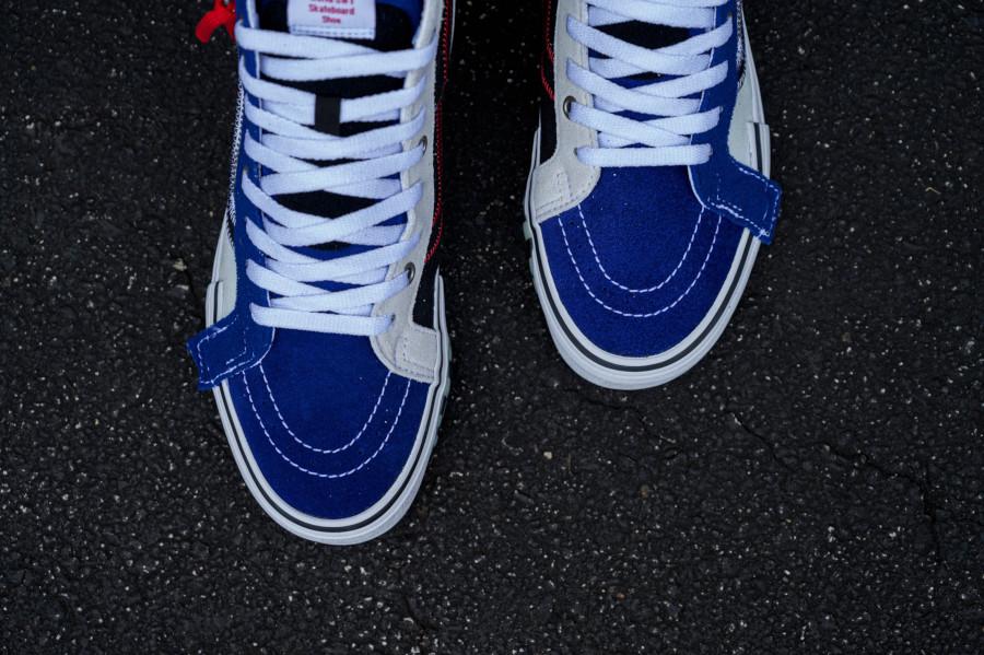 Vans Sk8-Hi Reissue Cap blanche bleue et noire (2)