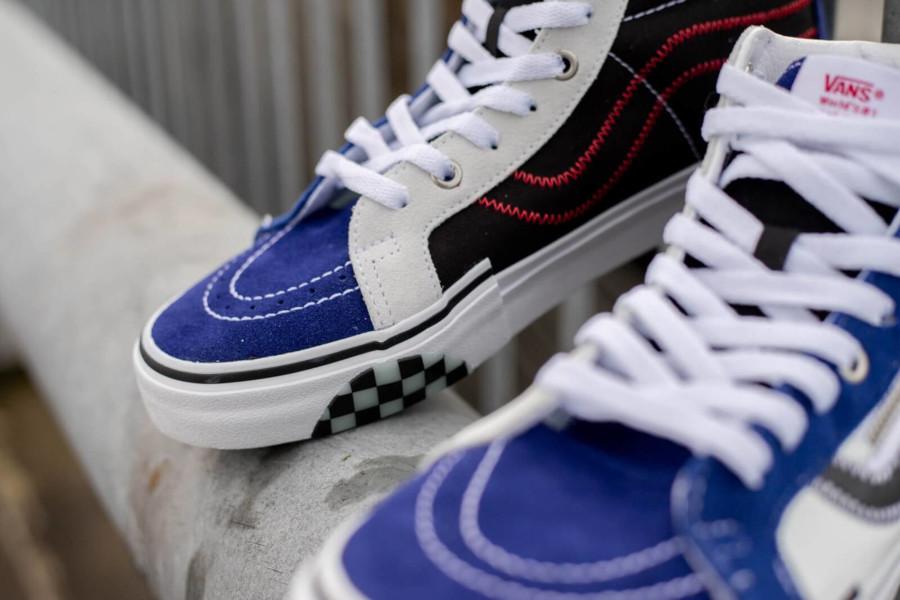 Vans Sk8-Hi Reissue Cap blanche bleue et noire (3)