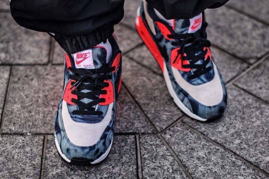 Atmos x Nike Air Max 90 Bleached Washed Denim - @sneakerbakasan