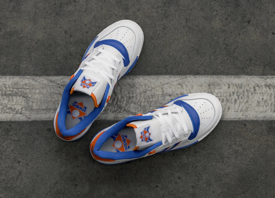 Adidas Rivalry Low 'Knicks' Cloud White Blue Orange (1-2)