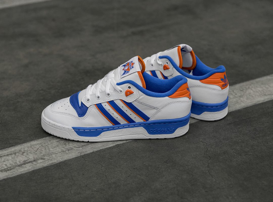 Adidas Rivalry Low 'Knicks' Cloud White Blue Orange (1)