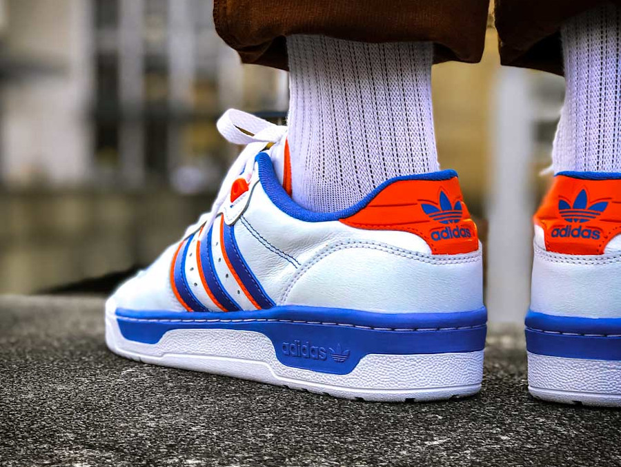 Adidas Rivalry Low 'Knicks' Cloud White Blue Orange (2)