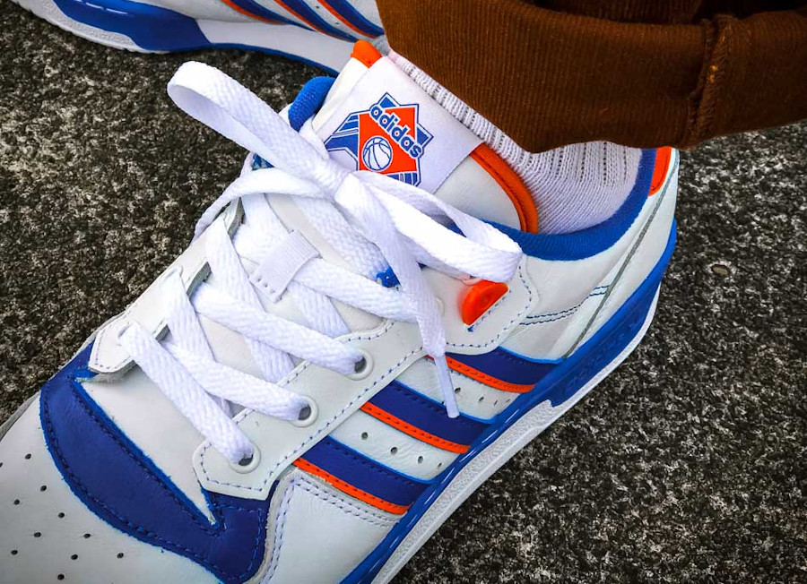 Adidas Rivalry Low 'Knicks' Cloud White Blue Orange (3)