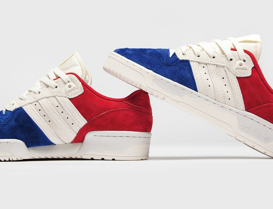 Adidas Rivalry Low Suede Tricolore Red White Blue EF6414