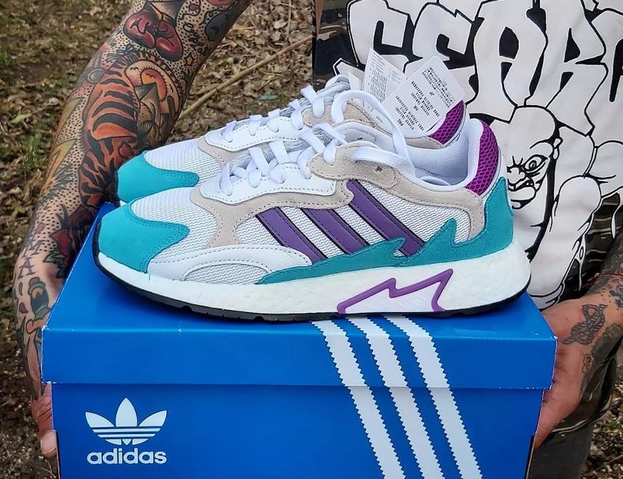 Adidas Tresc Run Cloud White Active Purple Hi-Res Aqua (2)