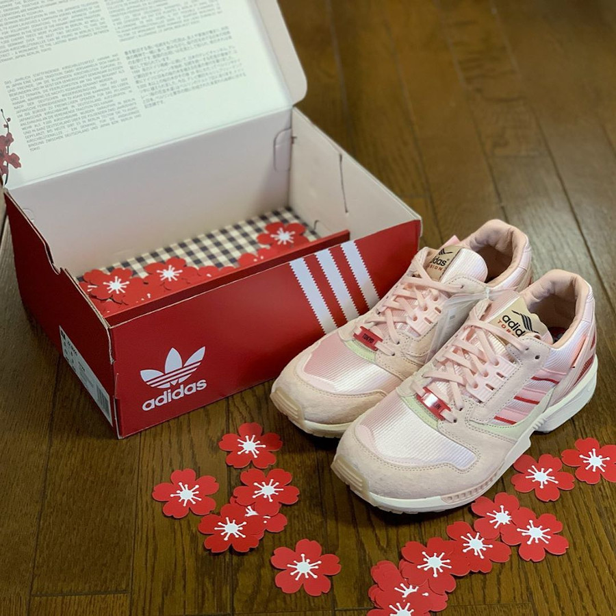Adidas ZX 8000 Icey Pink Hanami Pack (Kirschblütenallee) (2)