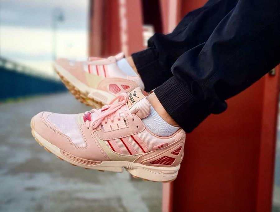 Adidas ZX 8000 Icey Pink Hanami Pack (Kirschblütenallee) on feet