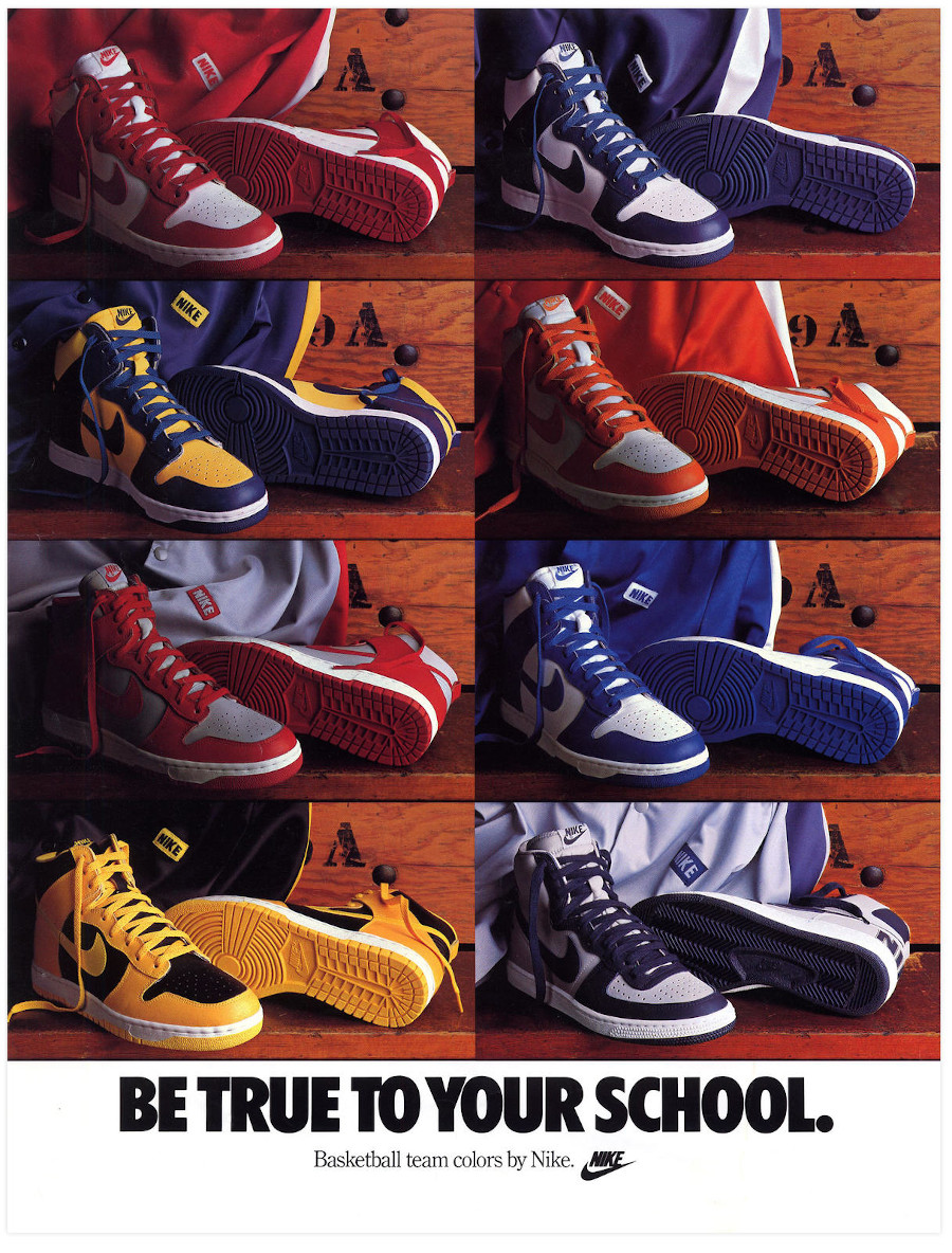 Affiche Nike Be True To Your School